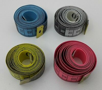 H162 Measuring tape 150cm in a Plastic box Various Colors V1