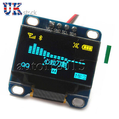 "128X64 Pixels 0.96"" I2C IIC Serial OLED LCD LED Display Module For Arduino UK"