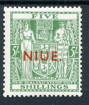 Niue 1941-67 Postal Fiscal  w43 5s green SG80 MLH cat £400