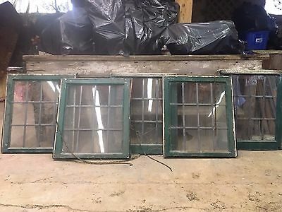 Antique Shabby Chic 12 glass panel old,old windows