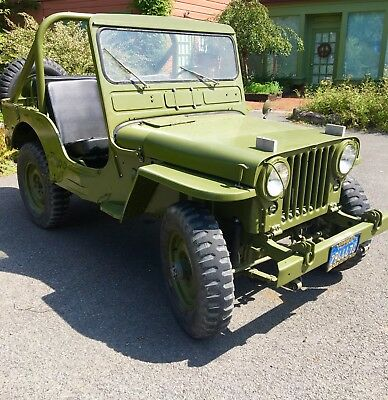 1953 Willy Jeep CJ3A, Vintage Korean War Era, Extensively Restored, Beauty!