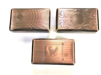 Tobacco Tin Box  2oz Copper Smoking Cigarette Storage Paper Holder STRONG DEEP