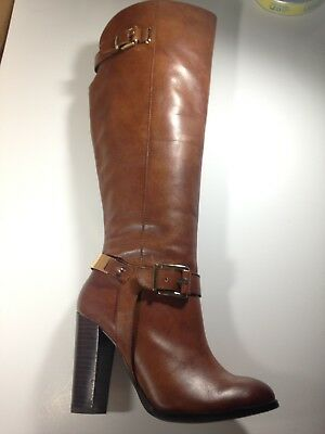 ALDO   Brown Leather Tall Knee High Boots Women's Size 8.5