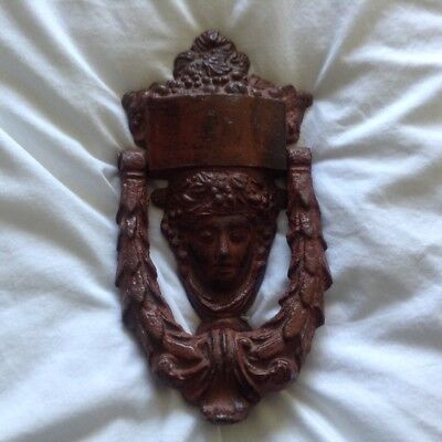 cast iron vintage door  knocker