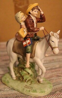 """Norman Rockwell Figurine """"Off To School"""" COA and original packaging"""
