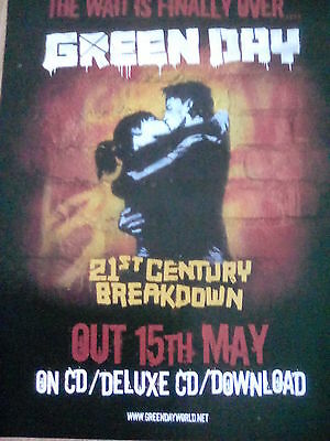 Green Day 21st Century Breakdown Album CD Advert A4 Page Kerrang to frame?