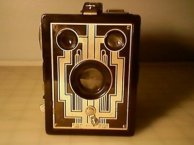 Eastman Kodak Brownie 620 box camera, made in USA, 1920-30, art deco design