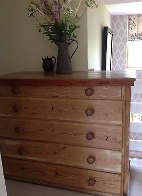 Large Antique Old Pine Drawers