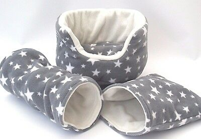 *** 3 Piece Set****cozy Pets****   Guinea Pig Bed,house,pouch, Tunnel Ferret,rat