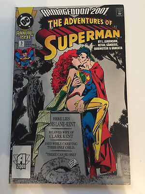 DC Comics -  Armageddon 2001: The Adventures of Superman Annual #3 (VF/NM) 1991
