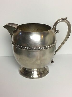 Vintage Sheridan Silver Plate PITCHER Embossed Scallop Design - Stamped