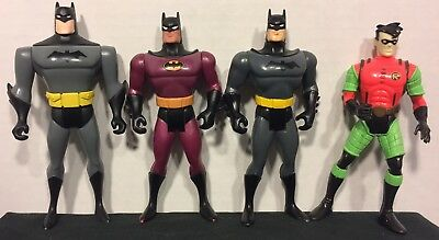 Vintage 1990's Batman The Animated Series Figures Lot Of 4 DC Comics Kenner