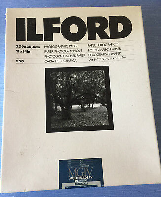 """Ilford 11 x 14"""" Multigrade IV RC Deluxe B&W Paper, Pearl Surface, 250 Sheets"""