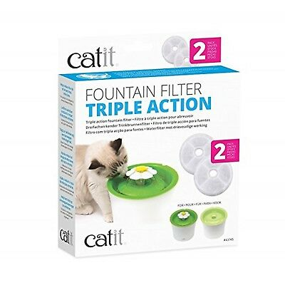 Catit Senses Water Fountain Triple Action Filters Pack of 2