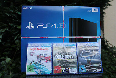 sony playstation 4 ps4 pro black 1tb spielekonsole. Black Bedroom Furniture Sets. Home Design Ideas