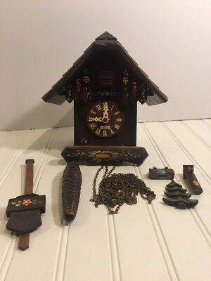 German Cuckoo Clock For Parts Not Working