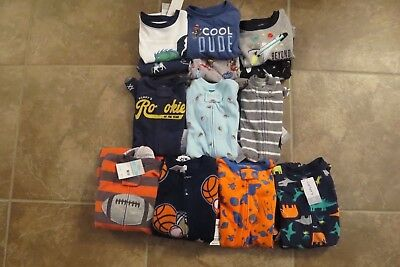 Carter's Baby Or Toddler Boys Fleece Sleeper Or 2 Piece Pajamas New With Tags
