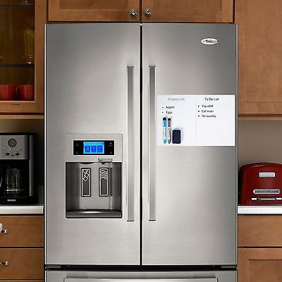 """Magnetic Dry Erase Whiteboard for Refrigerator-Size 17""""x11"""" - Everest One!!"""