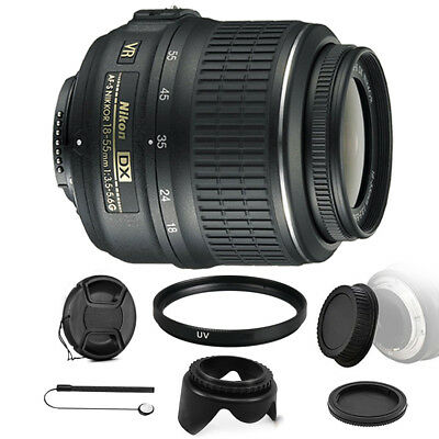 Nikon AF-P DX NIKKOR 18-55mm f/3.5-5.6G VR Lens with Accessories