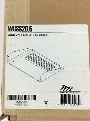 WUSS20.5 Wide Unit Shelf System 20.5DP Middle Atlantic Products NEW On Hand