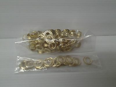 "100 #2 (3/8"")  Brass Self Piercing Grommets & Washers  use by hand or machine"