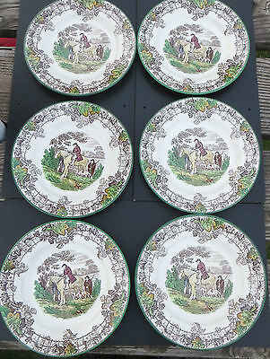 """Copeland Spode Byron Vintage - 6 Luncheon Plates (Approx 9"""")  - Multicoloured"""