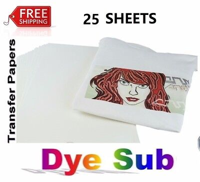 Sublimation Heat Transfer Paper Inkjet Printer 25 Sheets A4 8x11