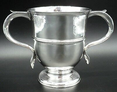 George Ii Solid Silver Twin Handled Loving Or Trophy Cup London 1757