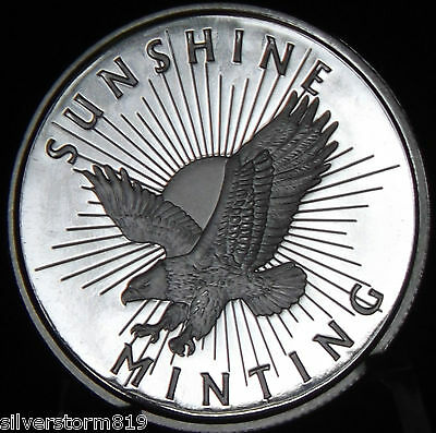 Half Troy Oz ½ Sunshine Minting Silver Round With Valid Security Feature