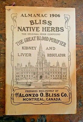 Almanac 1906 Lots of Medical Articles