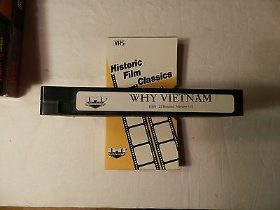 Why Vietnam VHS Vietnam War IHF Video