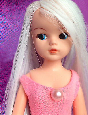 premium synthetic White hair for DIY RE-ROOT Sindy BJD Blythe + Fashion Dolls