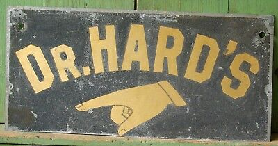Great 1860-90 Smaltz and Gilt DR. HARD'S Sign