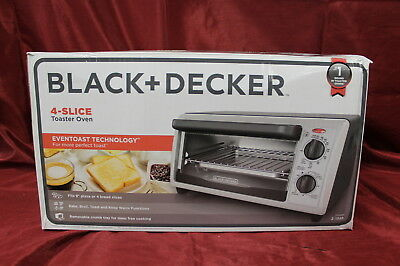 Black & Decker TO1322SBD 4-Slice Toaster Oven, Stainless Steel, New #N4