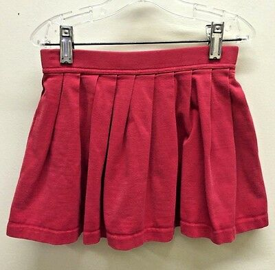 Vintage girl 6 + skirt 110 +cm Hanna Andersson red Thick cotton Skate