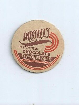 """Russell`s Dairy""  New Comerstown, Ohio  milk bottle cap."