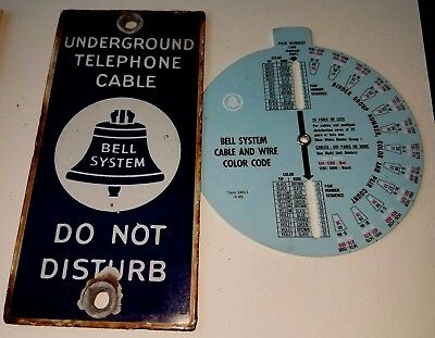 Vintage Bell Telephone Sign And Telephone Equipment Piece
