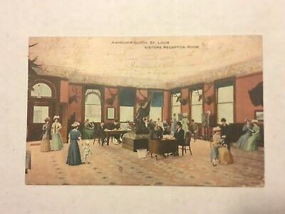 Anheuser-Busch Pre-Prohibition Visitors Reception Room Postcard