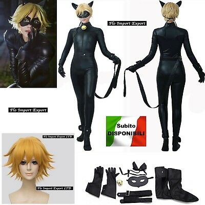 Inspired Miraculous Chat Noir Costume Carnevale Ladybug Cosplay Costume CHAN06