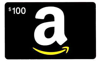 Amazon $100 Gift Card ~ Regular U.S. Mail Delivery Only with tracking