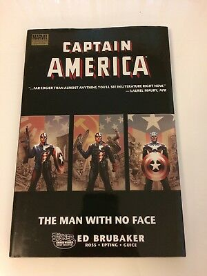 Captain America: The Man With No Face Hardcover 1st Printing Marvel Brubaker