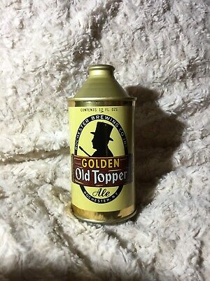 Beautiful Golden Old Topper Ale Cone Top Beer Can