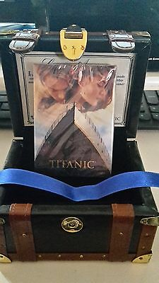 Limited Edition Titanic Trading Card Set (25 cards) in Exclusive Leather Trunk