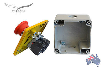 Metal Emergency Stop x 5  switch e-stop telemecanique!