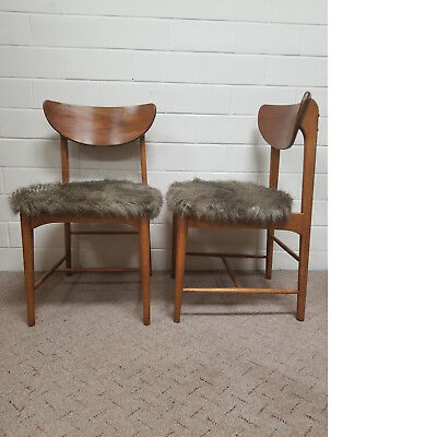 VINTAGE MID CENTURY DANISH MODERN DINING CHAIRS 60s WOOD ACCENT
