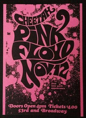 Pink Floyd, the Cheetah Club, 1st US Appearance,1967 Promo-Postcard RARE