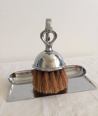 Rare Antique/Vintage, Unique, Silver Plated Brush and Tray Set.