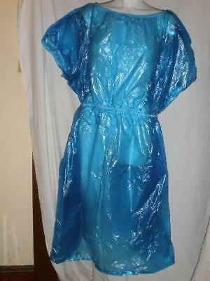 dress gown plastic/vinyl (PVC) blue NEW Adult play rain/shower/costume other XL