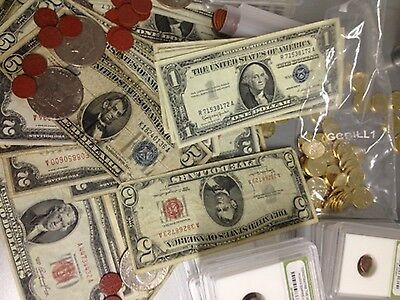 ESTATE LOT 3 Notes $1 $2 $5 RED/BLUE SEAL CURRENCY NOTES SILVER CERTIFICATES#!10