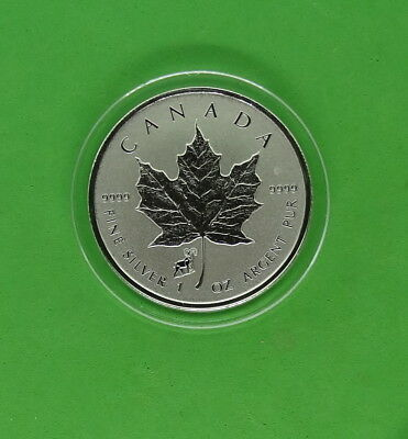 2015 Canada Maple Leaf Reverse Proof 1 oz 9999 Silver with Sheep Privy